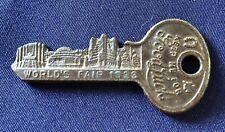1933 Chicago Worlds Fair Master Lock Co Souvenir Good Luck Key
