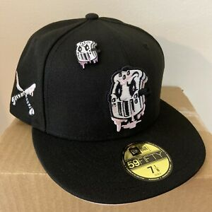 Hat Club Exclusive PBJ Pink Bottom Jus Mask New Era Fitted Pink UV Size 7 1/8