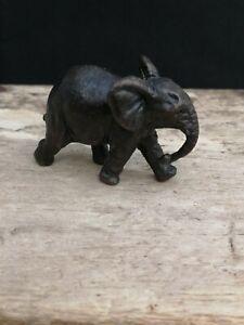 Miniature Bronze Elephant. Statue. Figure. Safari. Wild. Ornament. 51.7gms