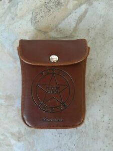 Texas Hold 'Em Playing Cards With Leather Pouch & Bullet Hole Cards