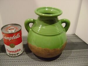 """Tuscan Green Olive Jar Sandstone Base Southern Living at Home 6.5""""  Tall"""