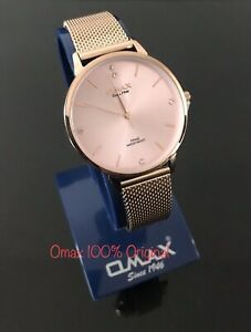 OMAX Analogue Gold Ladies Watch (Japan) Move 100% Authentic New