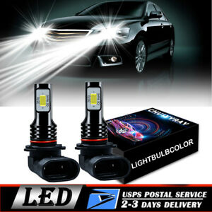 2x 9005 LED Kit de faros Bombillas de luz alta 4000LM 200W 6500K Lámpara blanca