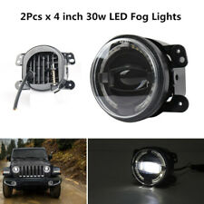 "4""30W LED Round Fog Lights Angel Eyes Halo Ring Lamp Len Projector Fit For JEEP"