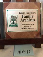 Family Tree Maker's Family Archives - World Family Tree Vol 31 pre-1600 -present