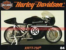 HARLEY DAVIDSON XRTT 750 XR TT CCE Dealer Show Publicités des années 90 MOTO HD