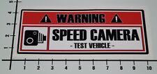 WARNING SPEED CAMERA TEST VEHICLE Aufkleber Sticker JDM Decal Plakette OEM Mi268