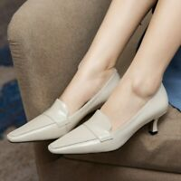 Ladies Simple Pointed Toe Kitten Heel Pumps Classice Fashion Office Work Shoes