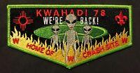KWAHADI OA LODGE 78 BSA CONQUISTADOR COUNCIL ALIEN UFO CRASH SITE ROSWELL FLAP
