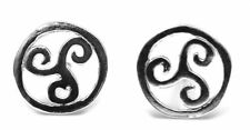 Sterling silver stud earrings celtic 7mm round