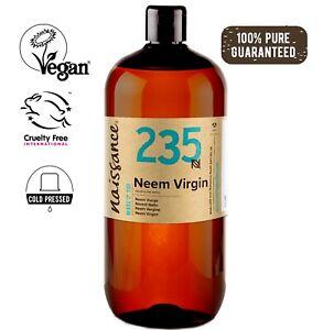Olio di Neem Vergine - Olio Vegetale Puro al 100% - 1L Olio Aromaterapia