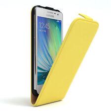 Tasche für Samsung Galaxy A5 (2015) Flip Case Schutz Hülle Cover Gelb