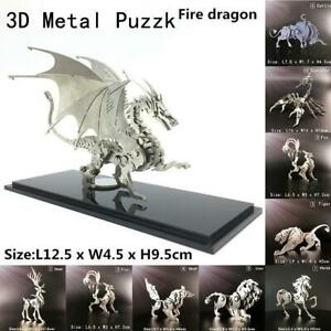 Steel 3D Animal Puzzle Assembly DIY Puzzle Kids Gift Y Model F1W3