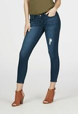 Just Fab Distressed Skinny Ankle Grazer Blue Size 30 LF077 BB 12