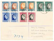 1937 - South Africa - Bilingual Pairs Coronation set on - FDC