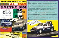 ANEXO DECAL 1/43 MG METRO 6R4 B.COLEMAN DONEGAL R. 1986 WINNER (01)