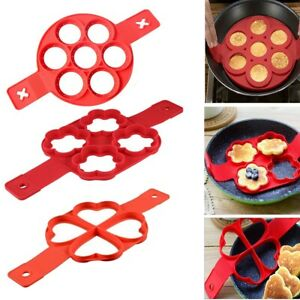 Non Stick Flipping Pancake Maker Silicone Mold Breakfast Omelette Mould 4 Shape