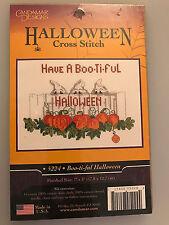 Candamar Design BOO-TI-FUL HALOWEEN Cross Stitch Kit - Pumpkins Ghost Design