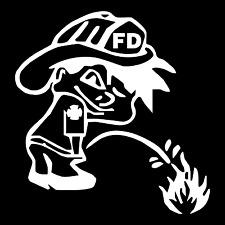 Piss On Fire Volunteer Fire Department Car Truck Window Vinyl Decal Sticker.