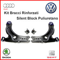 Kit Bracci Anteriori + Testine Volkswagen Golf 4 Rinforzati Sospensione 4 Pezzi