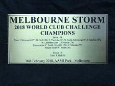 2018 MELBOURNE STORM WORLD CLUB CHALLENGE Sublimation Plaque