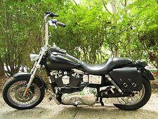 Harley DYNA LEFT Side BLACK SOLO BAG Saddlebag - DL01 BAD&G CustomS