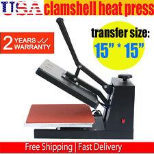 "DIGITAL HEAT PRESS MACHINE T-SHIRT SUBLIMATION PRINTER TRANSFER 15""X15"" PRESSING"