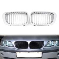 Frontal Valla Parrilla Rejilla ABS Chrome Mesh Para BMW E46 2D 98-01 3 Series A