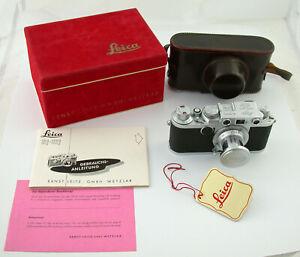 LEICA IIf Elmar red-scale 3,5/50 50 classic analog rangefinder DREAM + SERVICED