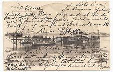 AK Postkarte Gruss aus Kiel Barbarossa Brücke Schiff Hafen gelaufen 1899