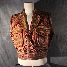 Vintage 1970 Beaded Elephant and Butterfly Vest from India