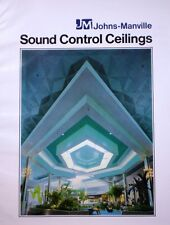 Johns-Manville ASBESTOS Sound Control Ceilings 1975