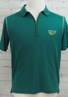 MOUNTAIN HARDWEAR Men's Polo Shirt Green Knit 1/4 Zip Size M Polartec