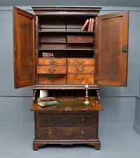 Rare Early 18th Century Walnut Secretaire Writing Cabinet