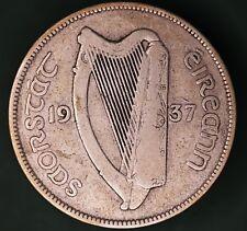 1937 Irish EIRE Ireland Half Crown 2/6 coin, 75% silver *[13302]