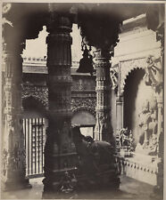 1860's PHOTO INDIA BOURNE - WELL OF KNOWLEDGE BENARES VARANASI