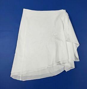 Allen cox beachwear gonna coprisostume donna usato L bianco cotone mare T6456