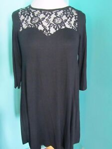 GORGEOUS BLACK DRESS LOOSE FITTING SIZE 8 GEORGE