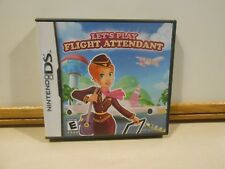 Let's Play Flight Attendant Nintendo DS Game COMPLETE w/ Manual FREE SHIPPING