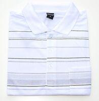 MAGLIETTA POLO uomo MANICA CORTA maglia COTONE t-shirt casual classica a righe