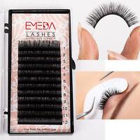 EMEDA 10-Box Set Individual 3D Real Mink Eyelash Extension B C D Curl 11-14mm