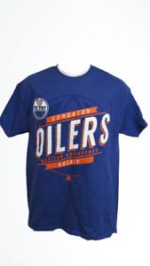 New Edmonton Oilers Mens Size M-L Blue Majestic Shirt
