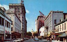 GA - 1950's  Bull Street from Wright Square in Savannah, Georgia - Chatham Co.