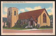 NEW JERSEY POSTCARD VINTAGE LBI  BEACH HAVEN KYNETTE METHODIST CHURCH