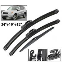 3Pcs Front Rear Windshield Wiper Blades Set For Toyota RAV4 XA20 2000 - 2005