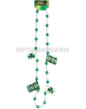 St Patricks Day Irish Flag Beads Costume Necklace St Paddys Pats Party Jewellery