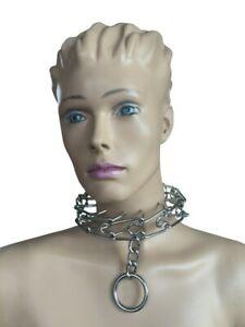 Bondage Metall Stahl Sklaven Halsband Halsfessel Stachel Halsband