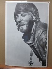 the aviator military political 1970's vintage poster black and white in#G1711