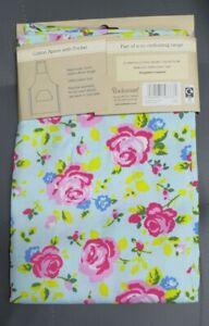 """""""COOKSMART APRON"""" Vintage Floral Flowers kitchen Cotton Cloth Apron"""