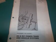 Used DS&931 Power train caterpillar disassembly and assembly manual